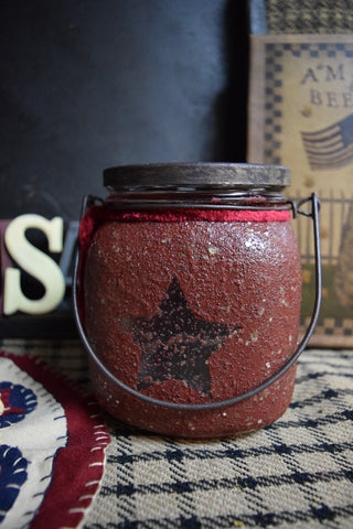 Glass Jar w/ Star and Handle