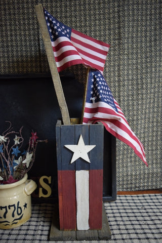 Flag on wood Stake