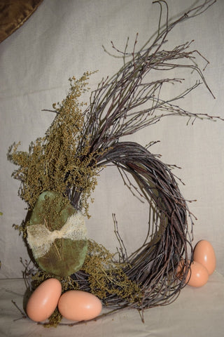 Twig Wreath W/ Egg