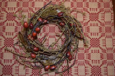 "3.5"" Tuscan Harvest Mini Wreath"