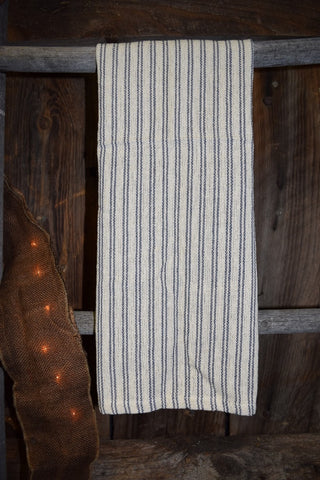 Blue Ticking Stripe Towel