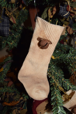 Baby Sock/Rusty Bell Ornament