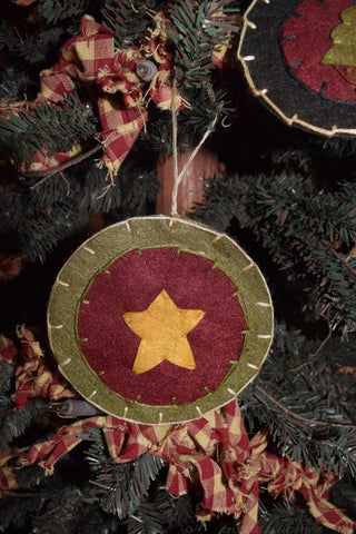 Felt Ornament w/ Star