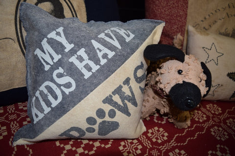 My Kids Have Paws Pillow