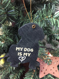 Wooden Dog Ornament