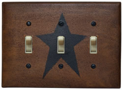 Star Triple Switch Plate Cover