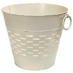 Farmhouse White Olive Bucket