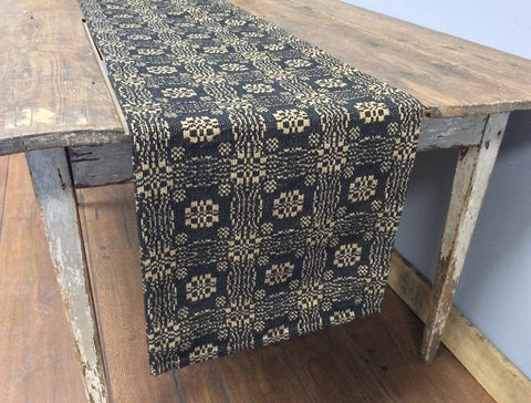 Gettysburg Black and Tan Throw