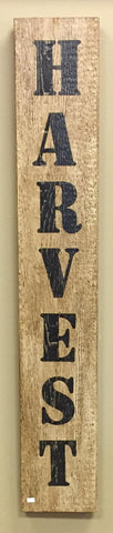 Antique White Distressed Harvest  Sign