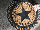 Round Braided Linen w/Star 15""