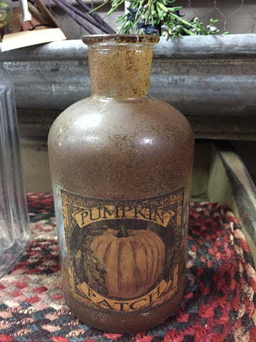 Antique Bottle W/ Pumpkin Patch Label - Medium Size