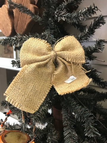 Burlap Bow Ornament