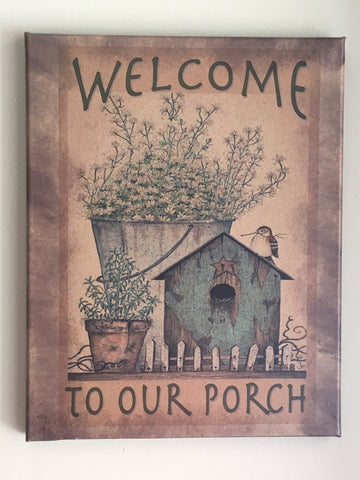 11x14 Welcome To Our Porch Picture