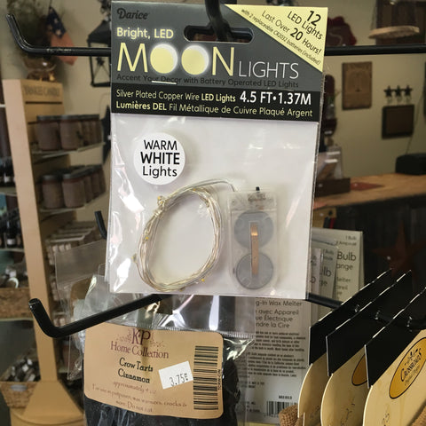 12 LED Moon Lights, Warm White