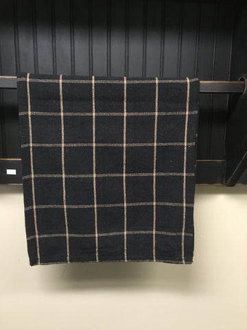 Black and Tan Check Table Runner