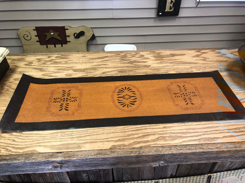 Outstanding Stenciled Floorcloth Table Runner 12 X 36 Solid Painted Border Download Free Architecture Designs Intelgarnamadebymaigaardcom
