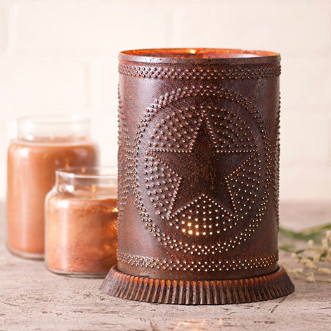 Candle Warmer w/ Regular Star Rusty Tin