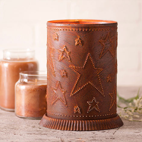 Candle Warmer w/ Country Star Rusty Tin