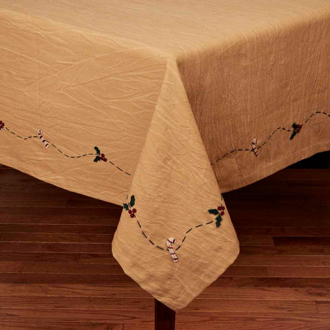 Candy Cane Vine Tablecloth