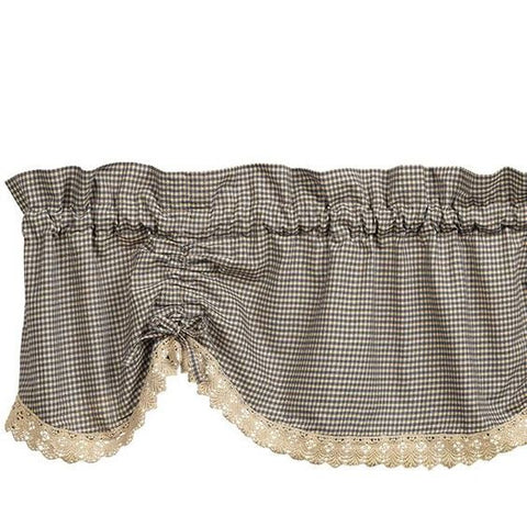 IHF Ava Black Scalloped Valance