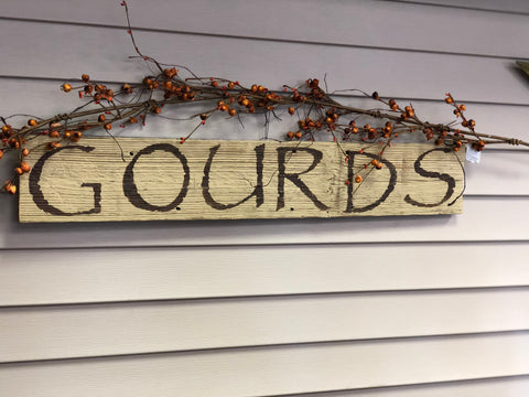 Distressed Gourds Sign