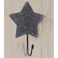 Punched Metal Star Hook