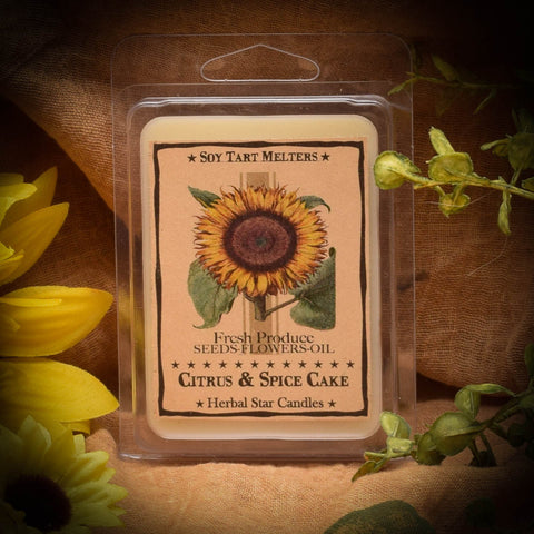 Herbal Star Candles  Sunflower Mini Pack of 6 Soy Tarts