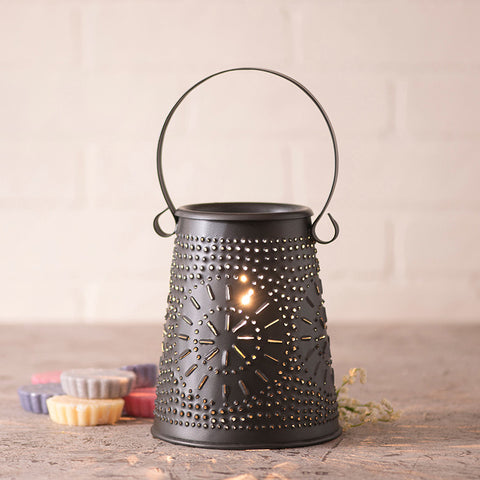 Original Wax Warmer in Smokey Black Punched Tin