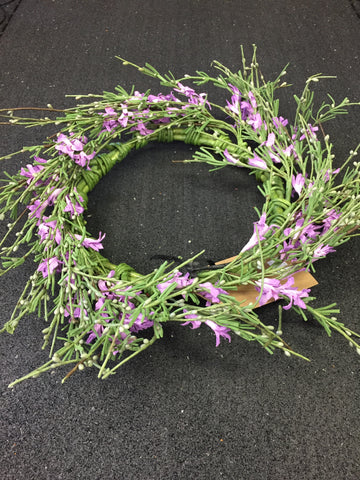 "7 "" Candle Ring w/ Lavender Flowers"