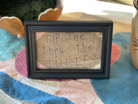 Tip Toe Thru The Tulips Stitchery