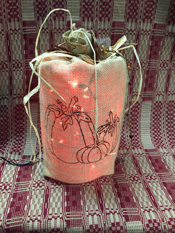 Pumpkin Burlap Light Sack