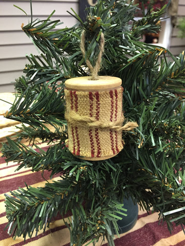 Large Wooden Spool Ornament