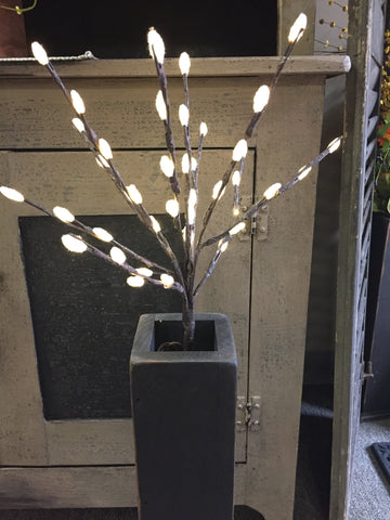 "20"" Pussy Willow With 40 lights Lights"