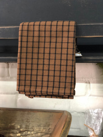 Black & Brown Checked Towel