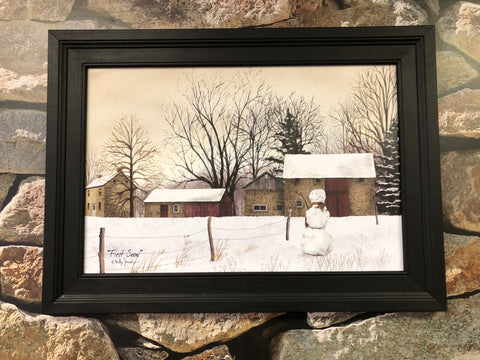 Billy Jacobs First Snow Framed Print