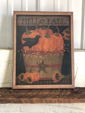 Painted Canvas Picture- Hello Fall