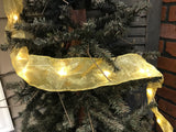 Pine Creek Traditions Gold Christmas Ribbon w/Lights