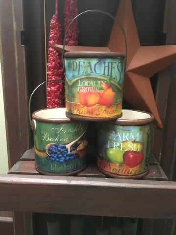 Farm Fresh Paint Can Votive Holder