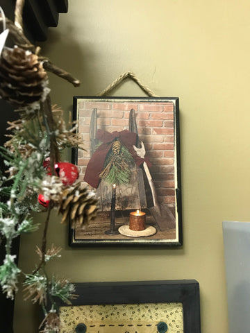 Let Christmas Live in your Heart Hanging Picture