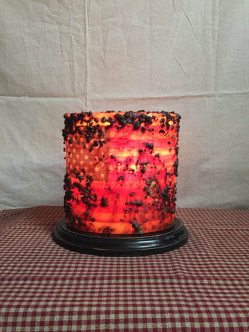 "6"" Candle Sleeve - Oval Cinnamon Flag"