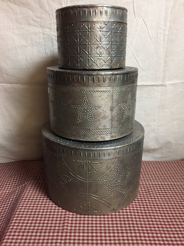 Punched Tin Canister Set