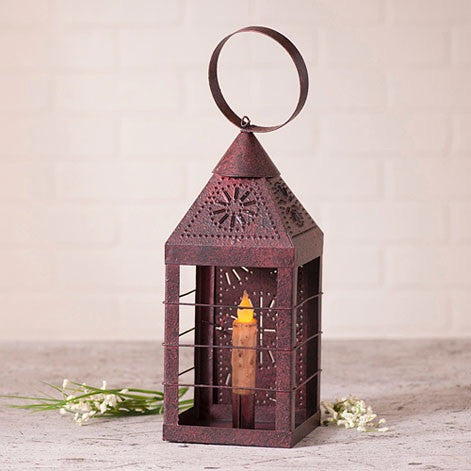 Farmhouse Lantern-Primitive Red