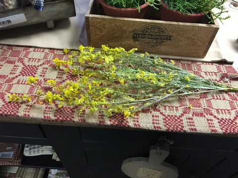 "19"" Lenten Yellow Fuzzy Grass"