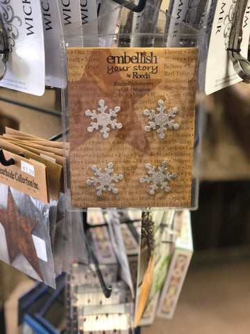 Embellish Your Story Snowflake Glitter Magnets