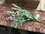 "9"" Rose Cream Dusty Miller Bouquet"
