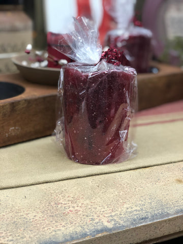 Red Textured Timer Candle - Medium