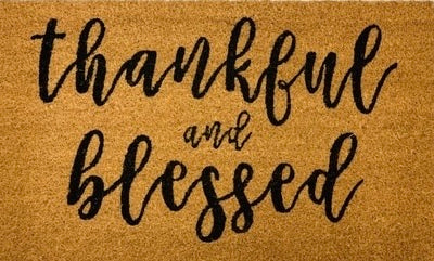 Thankful and Blessed Mat