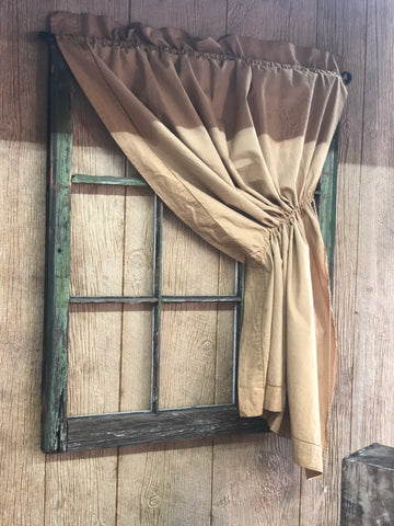 Coffee Stained Right Pull Engel Curtain