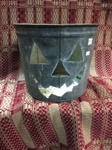 Galvanized Pumpkin Bucket