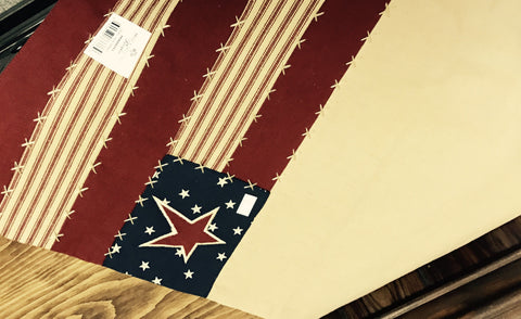 Americana Runner w/ Stars & Stripes 14x36